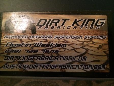 Dirt king fabrication